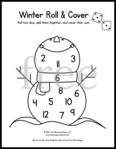 math worksheet : 20 free roll and cover games  thanksgiving and math : Kindergarten Math Games Printable