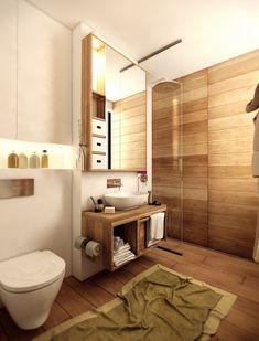 Modern Bathroom With Wood Floor