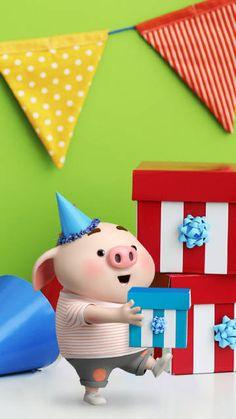 微博 Pig Wallpaper, Funny Phone Wallpaper, Cartoon Wallpaper, This Little Piggy, Little Pigs, Cute Piglets, 3d Art, Pig Drawing, Pig Illustration
