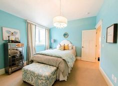 Pretty Aqua Bedroom