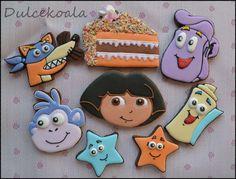 Dora exploradora galletas decoradas