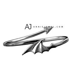 Silver Bracelet Handmade Bangles Cuff Bracelets Dragon Wing Tail Bracelets Gift Jewelry Accessories Mens Women