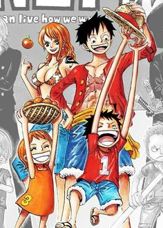 Luffy x Nami One Piece Anime One, I Love Anime, Anime Couples, Cute Couples, Luffy X Nami, One Piece Nami, The Pirate King, 0ne Piece, Monkey D Luffy