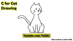 How to draw a CAT for kids  Cat Drawing from YoKidz  #YoKidz #Drawing #PencilDrawing #Generaldrawing #Like4like #Likeforlike #Share4share #Shareforshare #Draw #Blackandwhite #Cat #DrawCat