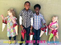 May Day baskets - an inexpensive, kid-friendly project for neighborhood community-building
