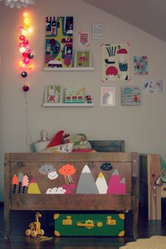 Kids Room Ideas - Cute footboard painting.