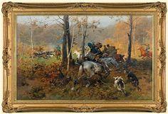 Hunt by Josef von Brandt