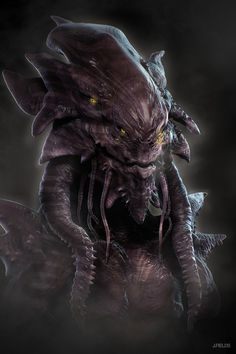 scifi-fantasy-horror: Zartuck the feared by Space Fantasy, Sci Fi Fantasy, Dark Fantasy, Alien Creatures, Fantasy Creatures, Alien Character, Character Art, Les Aliens, Alien Concept Art