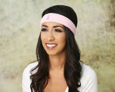 Pack of 25 Pink Ribbon Breast Cancer Awareness Sport Headbands Headbands) Sports Headbands, Ribbon Headbands, Breast Cancer Awareness, Breast Cancer Walk, Pink Games, Football Socks, Sweat Bands, Compliments, Big Kids