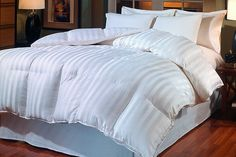 BR Home 800 Thread Count Cabana Stripe Goose Down Comforter at Ebay