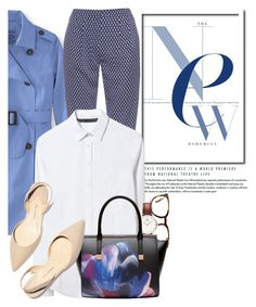 """""""Spring Chic"""" by glamorous09 ❤ liked on Polyvore featuring L.L.Bean, Diane Von Furstenberg, Zara, Linda Farrow, Daniel Wellington, Ted Baker, Paul Andrew, jcrew and spring2016"""