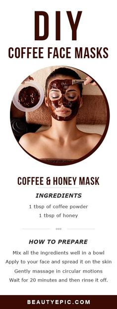 5 Top DIY Coffee Face Masks for Healthy and Gorgeous Skin. 5 Top DIY Coffee Face Masks for Healthy and Gorgeous Skin. Beauty Tips For Face, Beauty Skin, Face Beauty, Beauty Ideas, Beauty Secrets, Beauty Hacks Diy, Beauty Tricks, Beauty Guide, Diy Beauty Mask