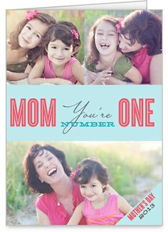 Number One Mom 5x7 Folded Card by Float Paperie