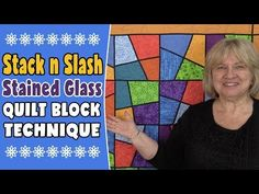 Stack and Slash Stained Glass Quilt Block Technique - YouTube