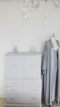 The White Approach: Back to Grey (or thanks for the free paint Helen) Hand Painted Furniture, Paint Furniture, Armoire, Diy Interior, Interior Design, Uk Homes, 50 Shades Of Grey, Diy On A Budget, Decoration