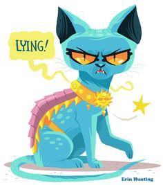 erinhuntingillustration:Lying Cat is my favourite thing about Saga.