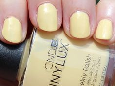Gorgeous, Healthy Nails and Manicures That Last with CND Manicure At Home, Nail Manicure, Nail Polish, Healthy Nails, Cnd, Natural Nails, Crowns, Yellow, Summer