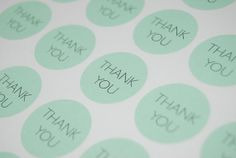 63 Mint Green Circle Thank You Stickers, Favor Stickers, Wedding Stickers, Gift Wrap, Envelope Seals on Etsy, £3.44