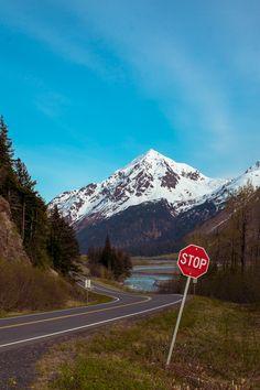 exit-glacier-creek-stop-sign
