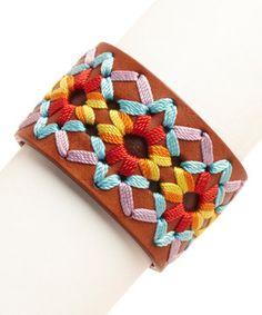 Another great find on #zulily! Brown Mexicali Leather Cuff by Three Bird Nest #zulilyfinds