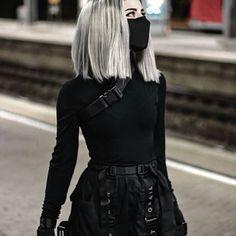 Anime Outfits Female Ninja A Edgy Outfits, Teen Fashion Outfits, Anime Outfits, Mode Outfits, Grunge Outfits, Cute Casual Outfits, Girl Outfits, Black Outfits, Black Outfit Grunge