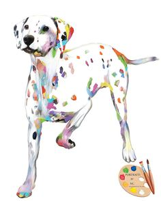 Dalmatian Portrait I Custom Dog Portraits I by PetPortraitsbyNC