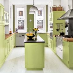 31 Bright and colorful kitchen design inspirations! (image via Loop Design)