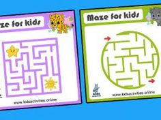 Easy mazes for kids – free printable Maze Games For Kids, Puzzles For Kids, Kids Mazes, Mazes For Kids Printable, Free Printables, Maze Worksheet, Maze Puzzles, Business For Kids, Cartoon Styles