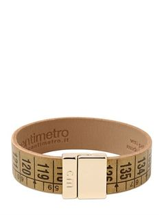 Laminated Leather Centimeter Bracelet