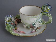 Wow. Fantasy tea cup and saucer.
