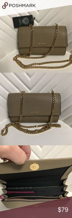 🌟new Authentic Vince Camuto crossbody 🌟 What is more perfect than a wallet, crossbody, and clutch all in one the zosia crossbody has credit card slots, a removable chain, and amazing leather detailing, all you need for a night out or a hands-free moment Vince Camuto Bags Crossbody Bags
