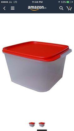 (37% off) Tupperware Square Smart Saver Plastic Container, 2.5 Litres, Assorted