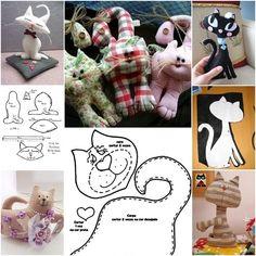 How to DIY Cute Fabric Kitty Cat from Template | www.FabArtDIY.com LIKE Us on Facebook ==> https://www.facebook.com/FabArtDIY