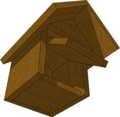 nichoir pour rougegorge projets essayer pinterest nichoirs plans et mod le. Black Bedroom Furniture Sets. Home Design Ideas