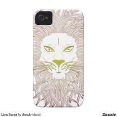 Lion Face2 Case-Mate iPhone 4 Case