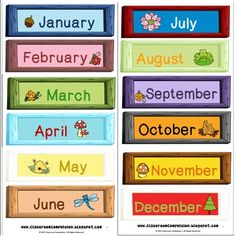 Classroom Compulsion: Framed Months of the Year Freebie