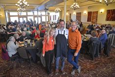 A Fred Harvey Weekend Brunch in the Plaza Ballroom in In the foreground are Tina Mion, Matt DiGregory and Allan Affeldt Plaza Hotel Las Vegas, Las Vegas Hotels, New Mexico, Brunch, Hotels In Las Vegas, Brunch Party