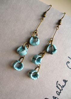 Recycled Paper Bead Earrings!!