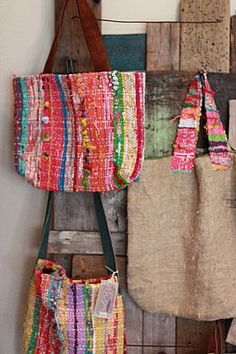 My exhibition space by koron007 on Flickr.Love these totes!