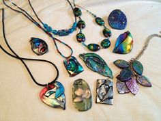 Polymer clay with foils