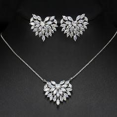 Paperllong/® Bijoux de mode 2 pi/èces boucles doreilles collier gouttes g/éom/étrique collier ensemble femmes bijoux /él/é accessoires