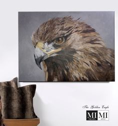 """Acrylics on plaster. Gallery Canvas X 60 """" SOLD to Private Collection Wildlife Paintings, Golden Eagle, Plaster, Acrylics, Birds, Canvas, Gallery, Artist, Owls"""