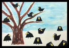 Havrani ze skládačky Winter Crafts For Kids, Winter Kids, 2nd Grade Art, Winter Project, Bird Crafts, Kindergarten Art, Art Lessons Elementary, Autumn Art, Watercolor Art