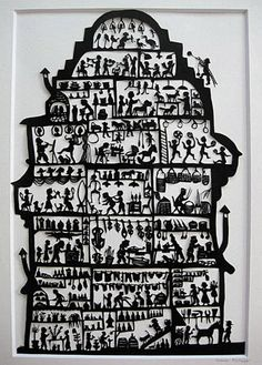 Susanne Schlaepfer created as a freelance artist traditional and modern silhouettes Paper Cutting, Book Art, Paper Art, Paper Crafts, Paper Cut Design, Shadow Art, Silhouette Art, Pulp Art, Linocut Prints