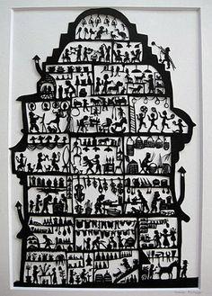 Susanne Schläpfer kreiert als freischaffende Künstlerin traditionelle und moderne Scherenschnitte