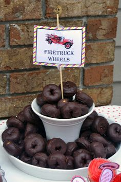 Firetruck 3rd Birthday Party: It's in the Details