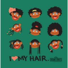 Sesame Street writer creates 'I Love My Hair' for daughter