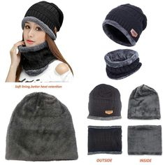 bf3d65cb3c7 HindaWi Womens Slouchy Beanie Winter Hat Knit Warm Snow Ski Skull Cap   Maxpedition Men s Hats