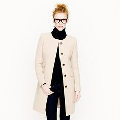 J.Crew (Double-cloth symphony coat). The colour of this coat is beautiful.