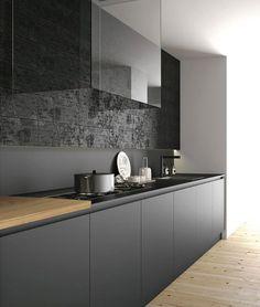 cucina nera legno - Cerca con Google
